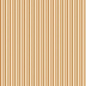 Crème orange et moka rayures Papier Peint
