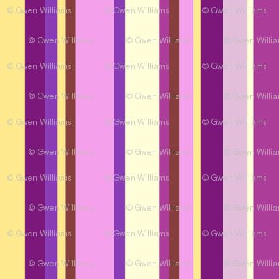 Multicolor purple stripes
