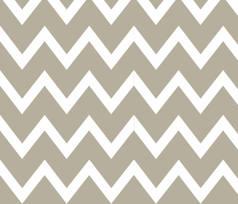 Natural Chevron fabric by designedtoat on Spoonflower - custom fabric