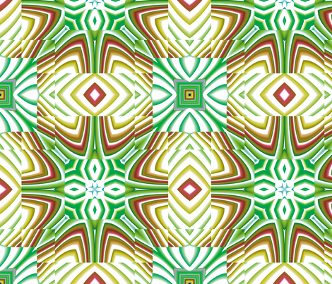 Flowery Incan Tiles 26 fabric by animotaxis on Spoonflower - custom fabric