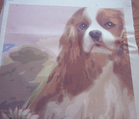 Cavalier Spaniel Garden Flag Fabric