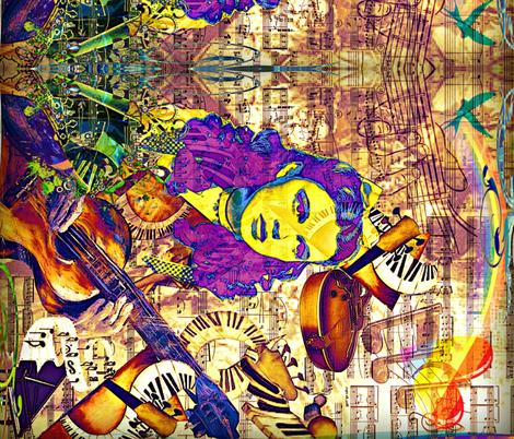 Bluebird border fabric fabric by whimzwhirled on Spoonflower - custom fabric