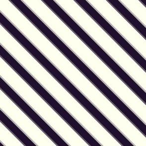 purple & ivory bias stripe