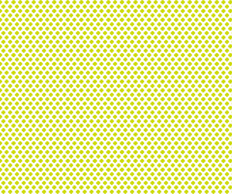 Clover in Lime fabric by honey&fitz on Spoonflower - custom fabric