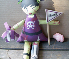 Gimme a B-R-A-I-N-S!  Zombie Cheerleader Doll