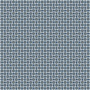 Floral Dot  tan blue © 2012 by Jane Walker