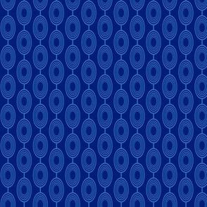 Geometric Ovals - Blue