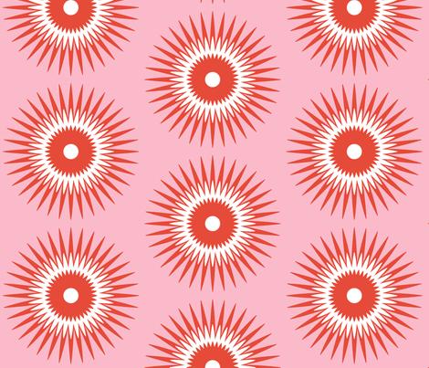 Mango Star Bursts fabric by fable_design on Spoonflower - custom fabric