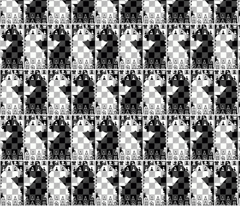 ChessBW fabric by retroretro on Spoonflower - custom fabric