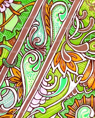 Modern Colonial Zig Zag Vertical Stripe