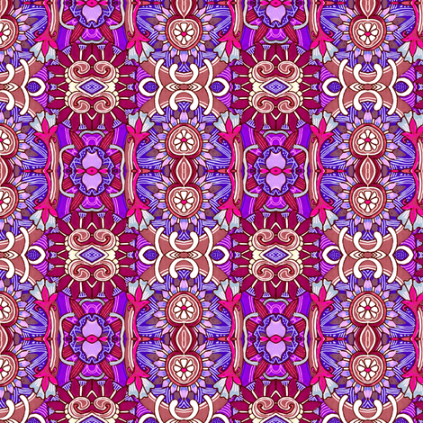 Flower Power Hour (a red and purple vertical stripe) fabric by edsel2084 on Spoonflower - custom fabric