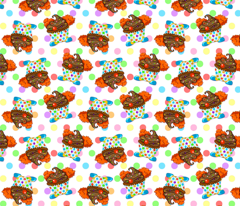 Funny Like a Clown Cupcake fabric by boogervampire on Spoonflower - custom fabric