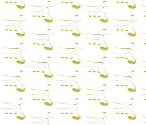 Abstract Golden Musical Notes fabric by yewtree on Spoonflower - custom fabric
