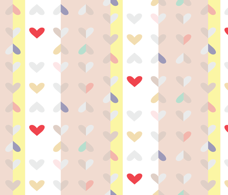 Hearts fabric by janelle_wooten on Spoonflower - custom fabric
