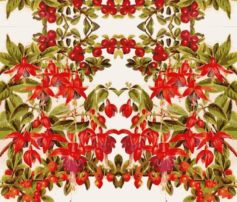 Fuchsia Fantasia fabric by flyingfish on Spoonflower - custom fabric