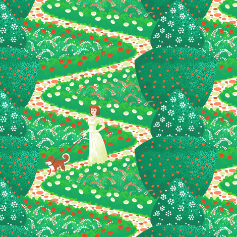 Garden Path fabric by siya on Spoonflower - custom fabric