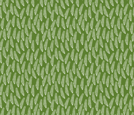 Fern on Riverbank Green fabric by thistleandfox on Spoonflower - custom fabric