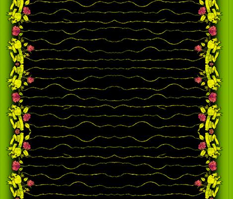 Skull Border Black fabric by jadegordon on Spoonflower - custom fabric