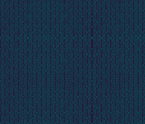 Leaf blue fabric by flyingfish on Spoonflower - custom fabric