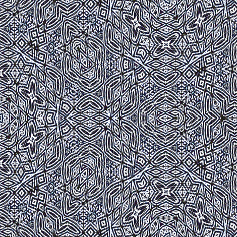 Navy blue tiki lace fabric by wren_leyland on Spoonflower - custom fabric