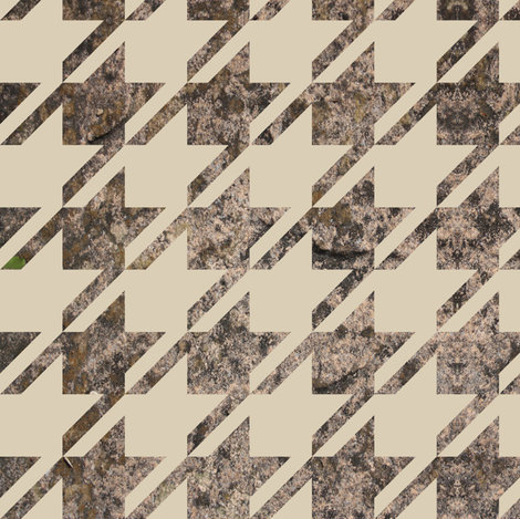 Huge Texture Houndstooth  fabric by candyjoyce on Spoonflower - custom fabric