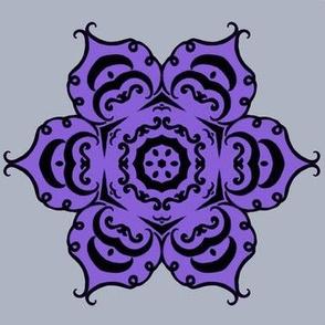 pumpkin flower purple & silver