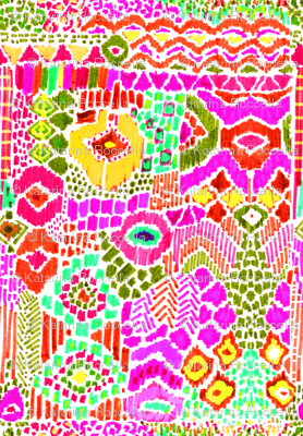 indian summer ikat pink orange