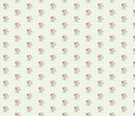 Campanula-pattern_ fabric by koalalady on Spoonflower - custom fabric