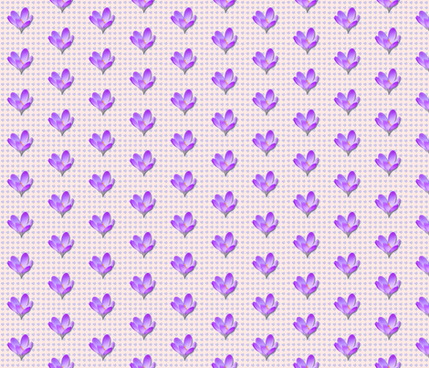 Crocus-pattern_ fabric by koalalady on Spoonflower - custom fabric