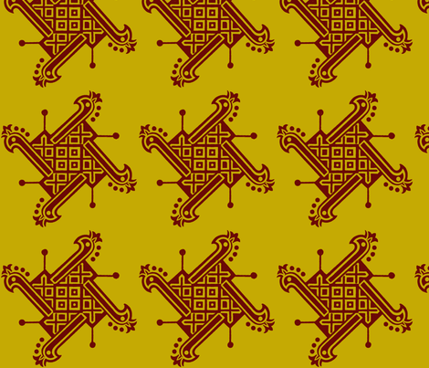 India Tribal gold fabric by flyingfish on Spoonflower - custom fabric