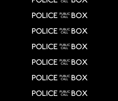 Police Box Sign fabric by susenmc on Spoonflower - custom fabric