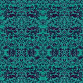 Henna Doodle blue