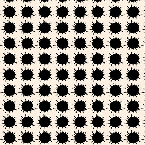 ink blot polka dots fabric by paragonstudios on Spoonflower - custom fabric