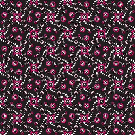 Tiny Bubbles-Black fabric by jjtrends on Spoonflower - custom fabric
