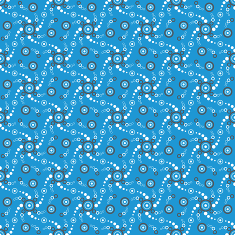 Tiny Bubbles-Blue fabric by jjtrends on Spoonflower - custom fabric
