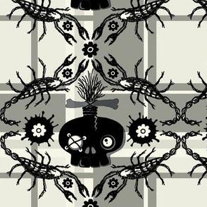 zombie skull plaid