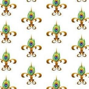 peacock fleur de lis