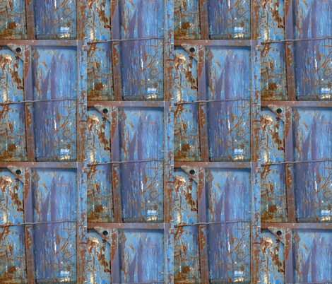 Shipping Container in Front of the Louvre, 4 fabric by susaninparis on Spoonflower - custom fabric