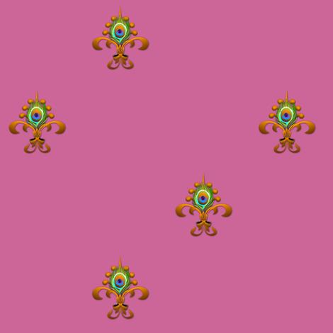 fdl peacock deep orchid fabric by glimmericks on Spoonflower - custom fabric