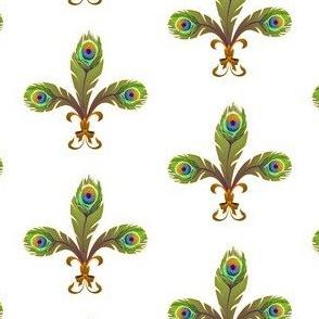 peacock fleur de lis 2