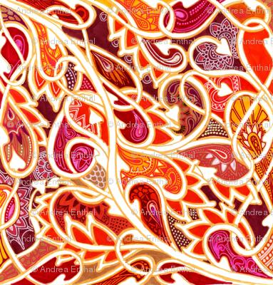 Tangled Tango of Love (orange flame)