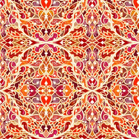 Tangled Tango of Love (orange flame) fabric by edsel2084 on Spoonflower - custom fabric