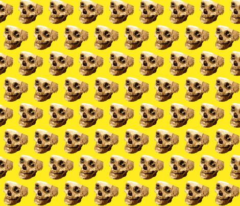 Happy Skull fabric by robin_rice on Spoonflower - custom fabric