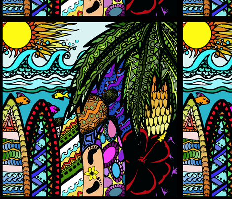 hawaii_ink_col fabric by kalonasimmons on Spoonflower - custom fabric