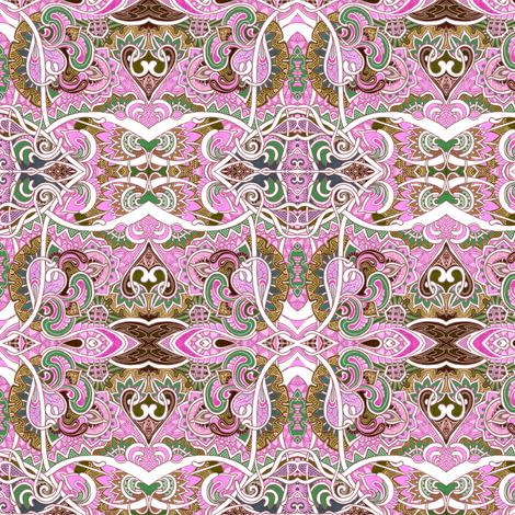 Chocolate and Pink Romance fabric by edsel2084 on Spoonflower - custom fabric