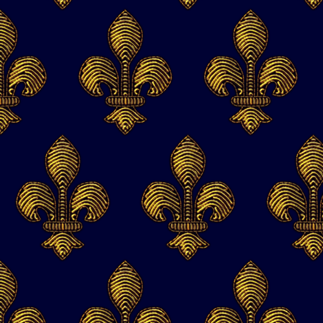 Marie de Medici's Fleur de Lis fabric by bonnie_phantasm on Spoonflower - custom fabric