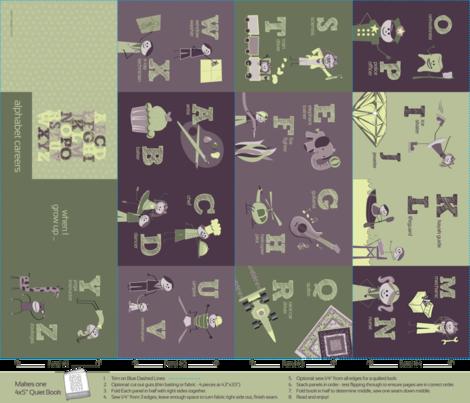 Alphabet Careers - Fat Quarter fabric by emily_caraballo on Spoonflower - custom fabric