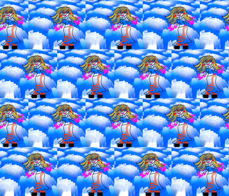 Cloud Walking in a Half Brick Repeat fabric by anniedeb on Spoonflower - custom fabric