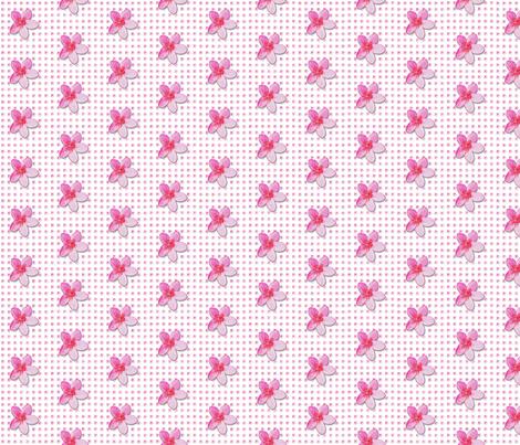 plumeria-pattern_ fabric by koalalady on Spoonflower - custom fabric