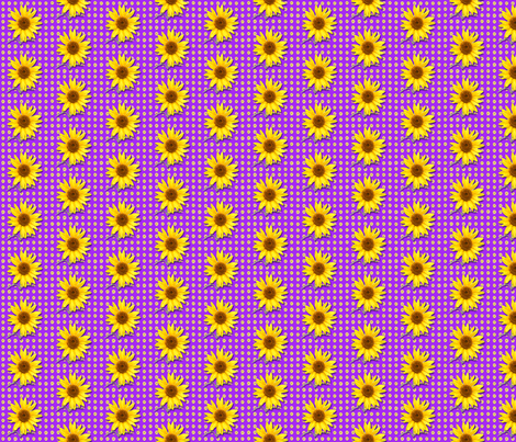 sunflower-1-pattern__ fabric by koalalady on Spoonflower - custom fabric
